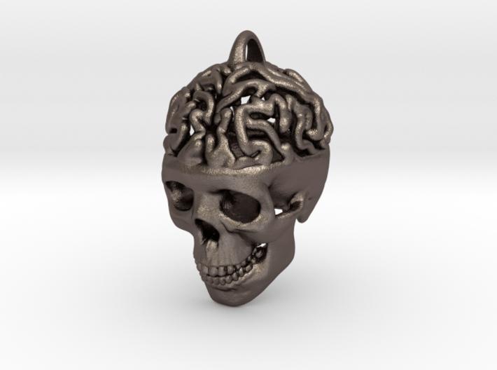 Brain Skull Pendant 3d printed