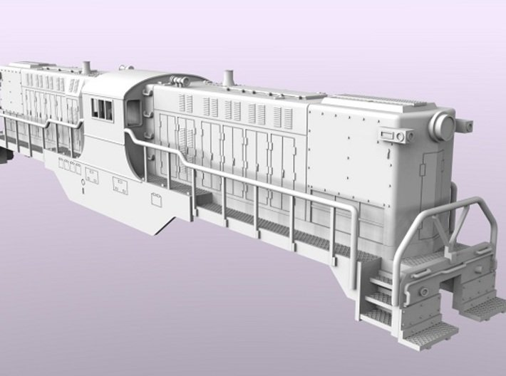 Baldwin DT6-6-2000 Shell Only N Scale 1:160 3d printed Shell Render