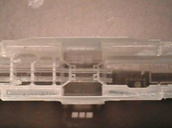 Baldwin DT6-6-2000 Dummy N Scale 1:160 3d printed Handrails Inside Shell (Before Cleaning)