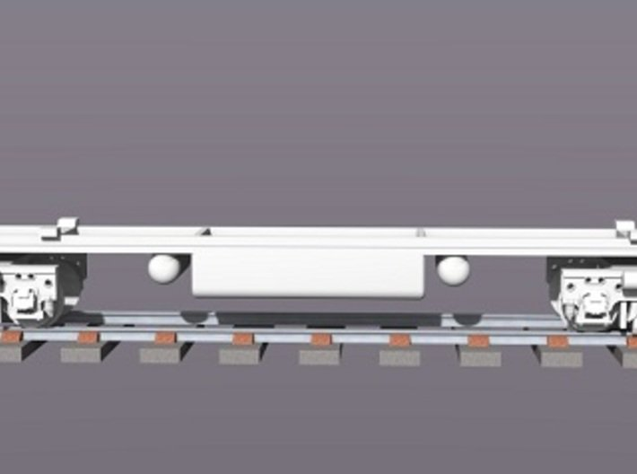 Baldwin DT6-6-2000 Dummy Trucks X4 N Scale 1:160 3d printed Rendered Dummy Trucks With Chassis