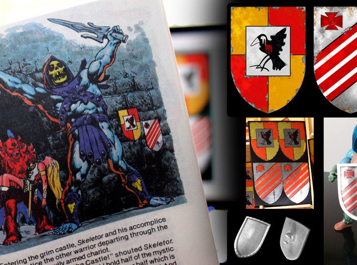 MOTUC Castle Grayskull Entrance Shield 3d printed
