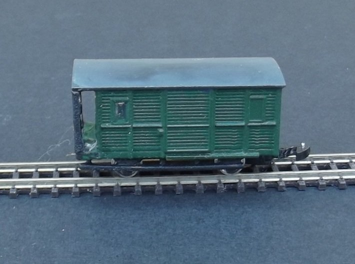 Fourgon A Baggage Body - Nm - 1:160 3d printed completed body + chassis + buffers + wheels + couplers