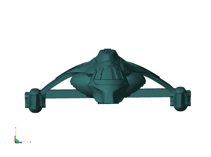 1/1000 Scale Nightfury 3d printed Locked on you and it's ready to fire, whatcha ganna do?