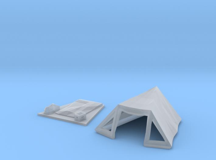 Pyramid tent (N 1:160) 3d printed