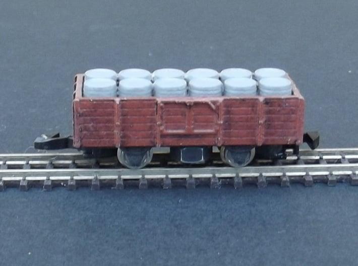 Wagon Set 1 - 4 wagon chassis - Nm - 1:160 3d printed