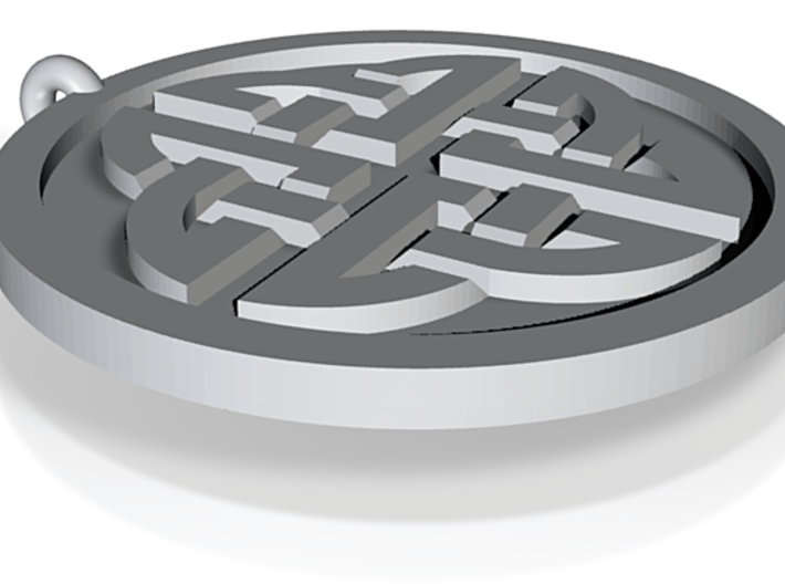 Celtic Shield Knot 3d printed