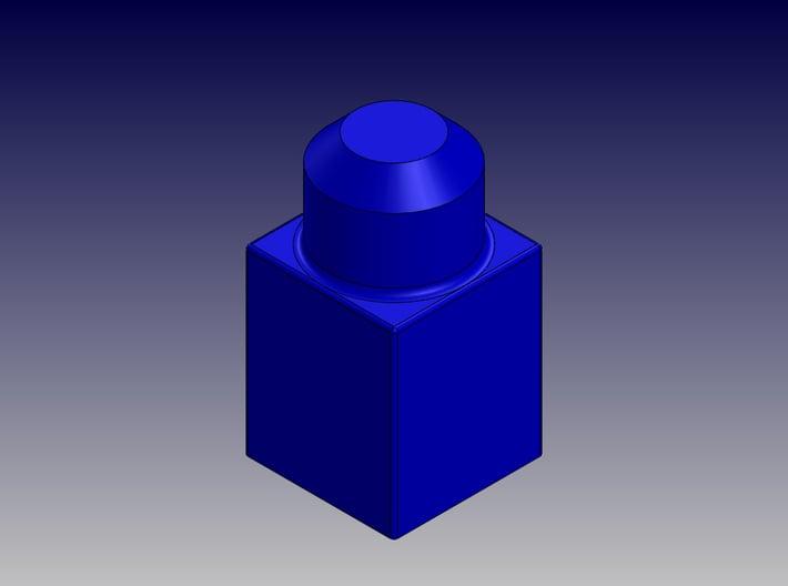 SINGLE BLOCK 3d printed Single Block-Isometric View