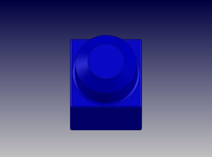SINGLE BLOCK 3d printed Single Block-Top View