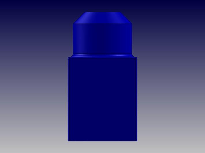 SINGLE BLOCK 3d printed Single Block-Front View