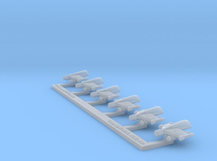 Omni Scale LDR (Klingon) Z-Y Fighters WEM 3d printed