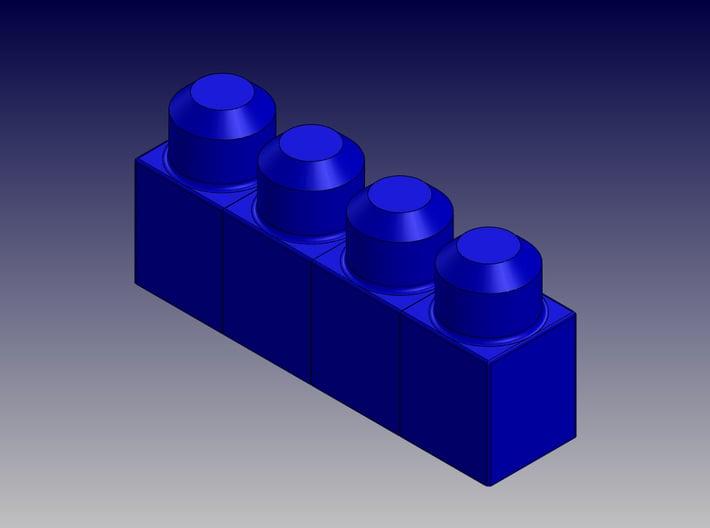 QUAD BLOCK-LONG 3d printed Quad Block-Long-Isometric View