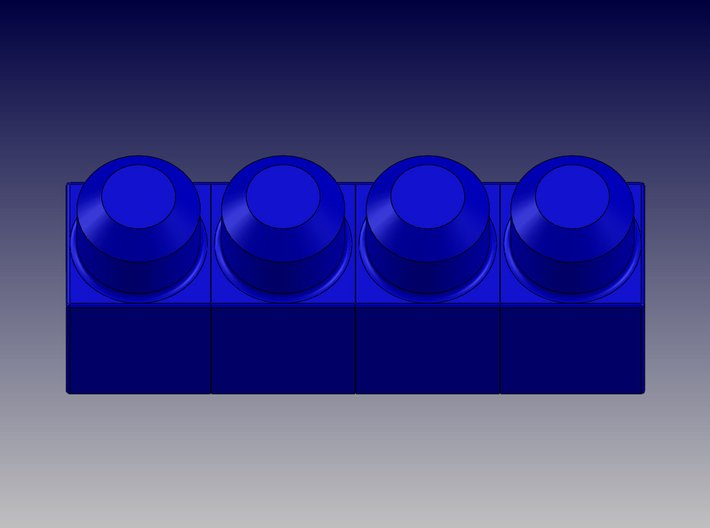 QUAD BLOCK-LONG 3d printed Quad Block-Long-Top View