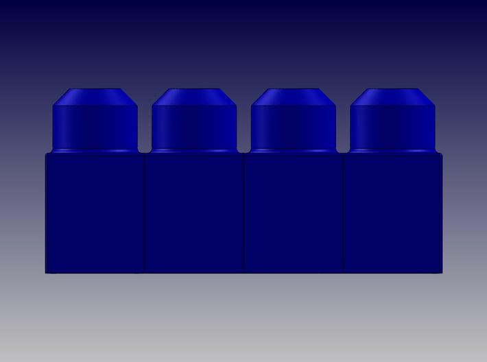 QUAD BLOCK-LONG 3d printed Quad Block-Long-Front View