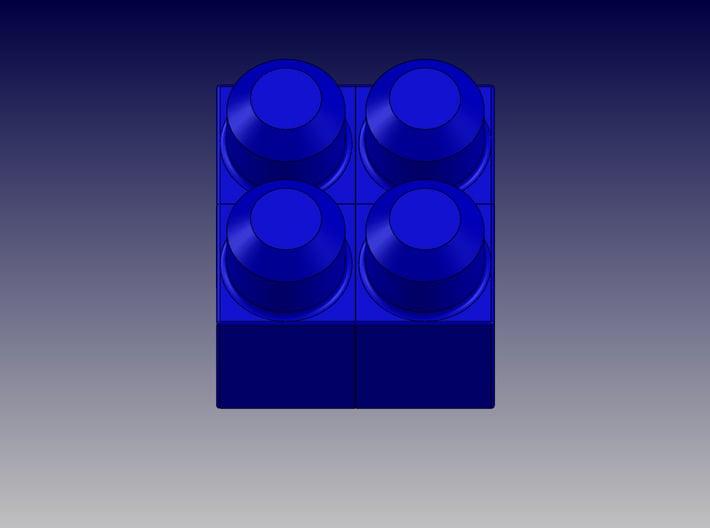 QUAD BLOCK-SQUARE 3d printed Square Quad Block-Top View