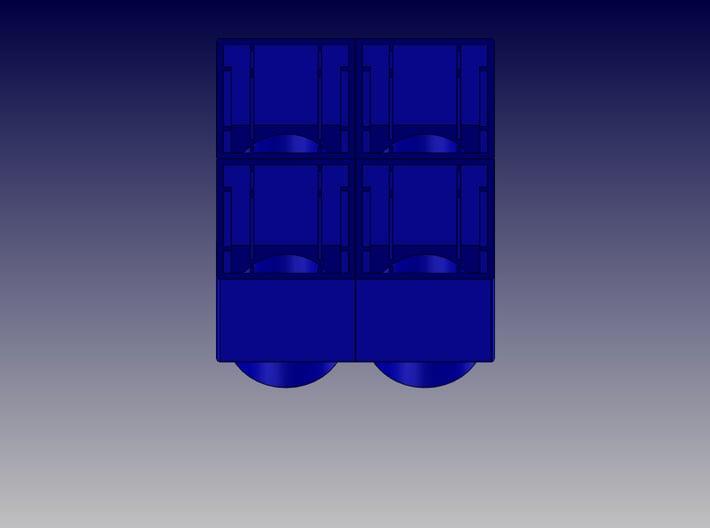 QUAD BLOCK-SQUARE 3d printed Square Quad Block-Bottom View