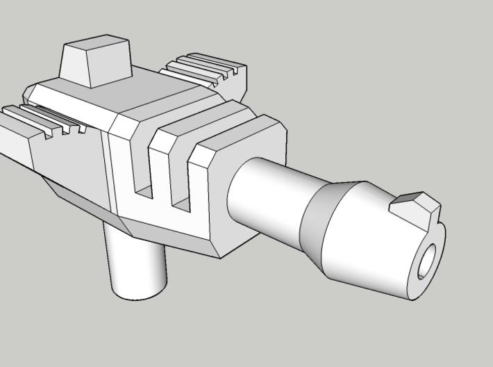 Hurricane Pistol (5mm handle) 3d printed