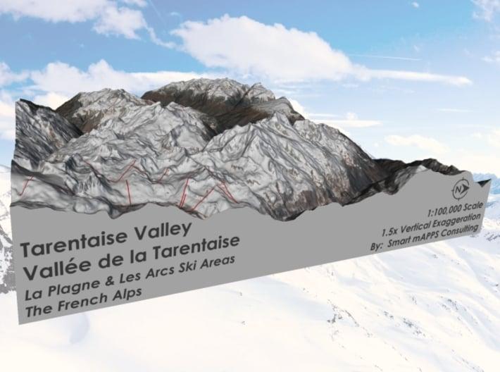 La Plagne and Les Arcs Ski Areas 3d printed