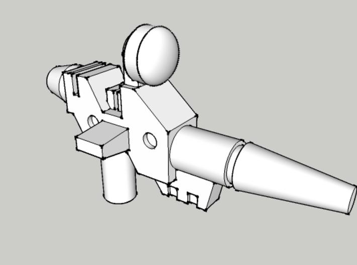 Sweeper Pistol (3mm Handle) 3d printed