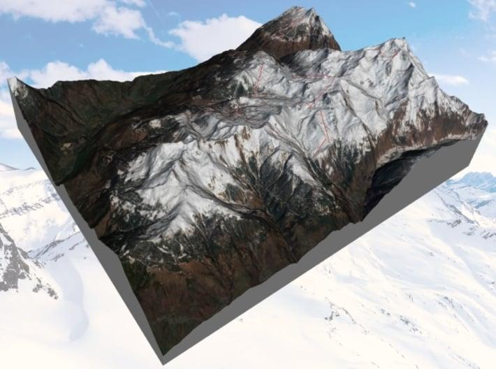 """La Plagne Ski Area: 8""""x10"""" 3d printed"""