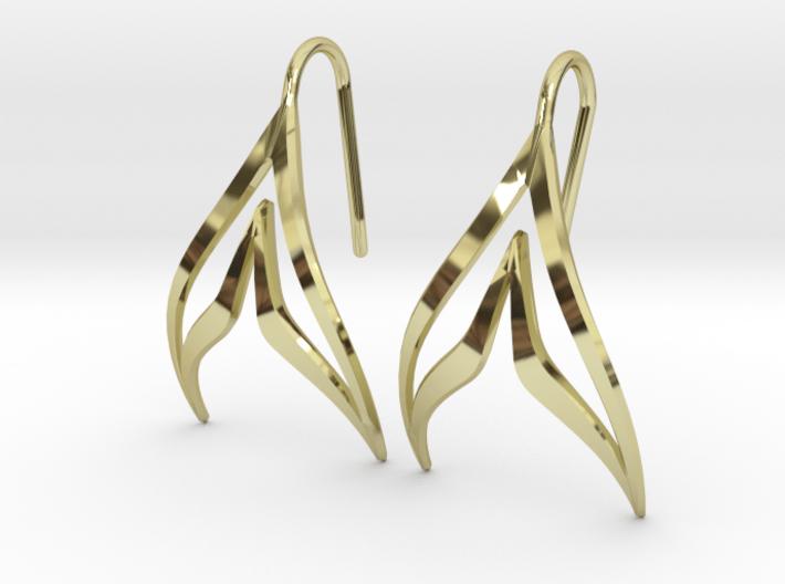 sWINGS Sharp Earrings 3d printed