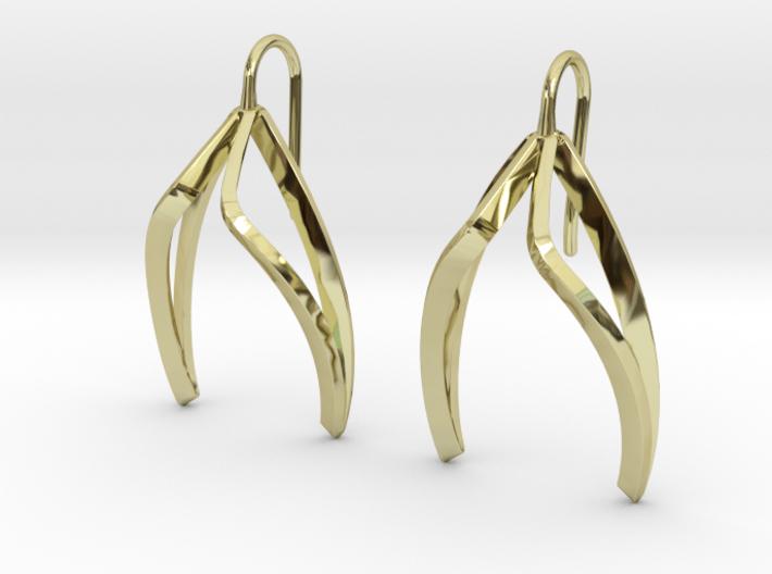 sWINGS Light Earrings. 3d printed