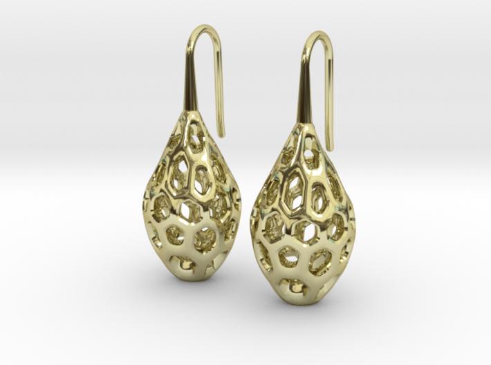 HONEYBIT Earrings. 3d printed