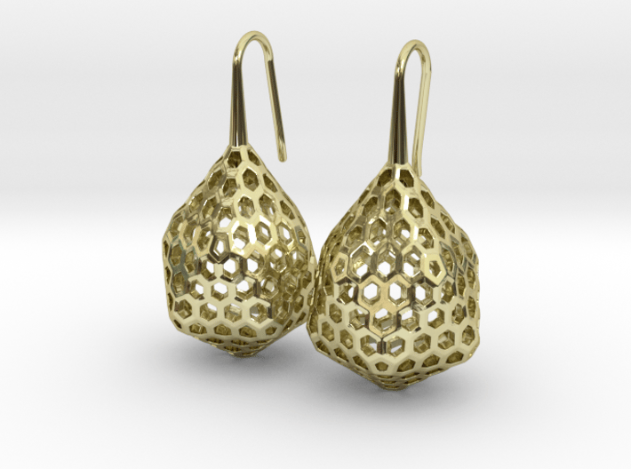 STRUCTURA Stylized, Earrings. 3d printed
