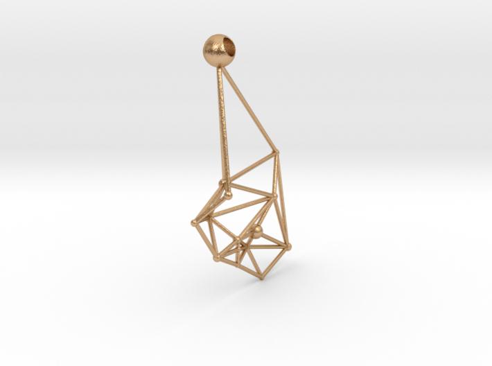 Space earrings 3d printed