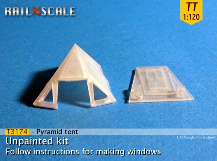 Pyramid tent (TT 1:120) 3d printed