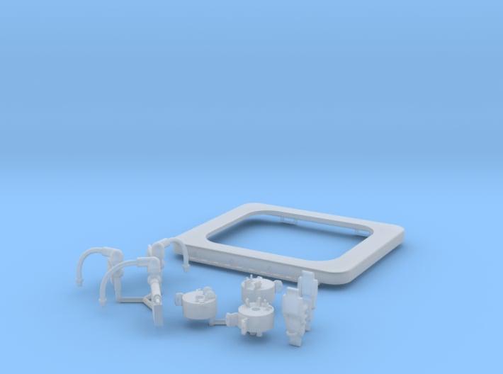 1:8 BTTF DeLorean Flux Capacitor set 2 of 2 woG 3d printed Render of the 3D model