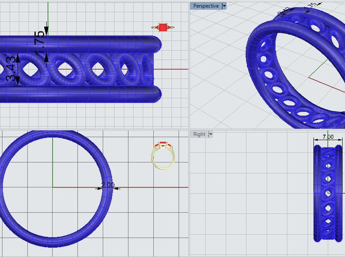 GBW5 Mns Loop Band 3d printed