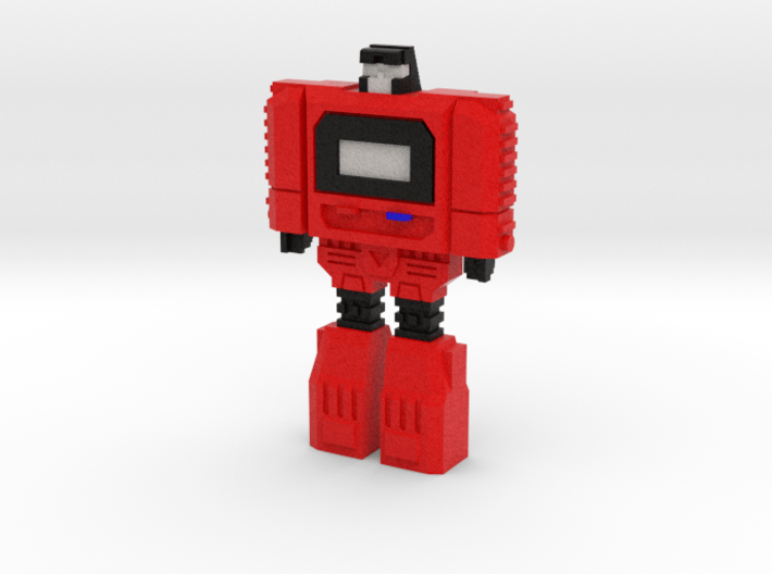 Retro Time Robot (Red) 3d printed