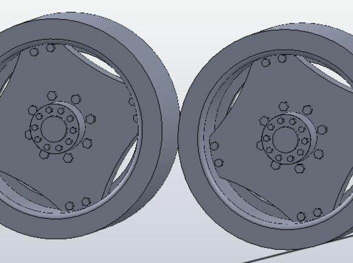 1:64 scale 14.9-28 Wheel Pair 3d printed