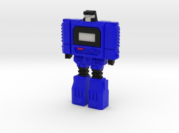 Retro Time Robot (Blue) 3d printed