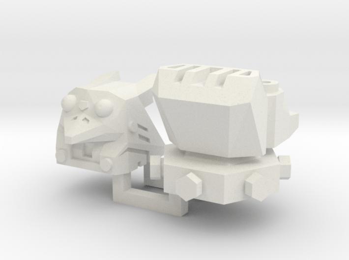 PotPie Fist Heads: Robo Penguin and Robo Dog 3d printed