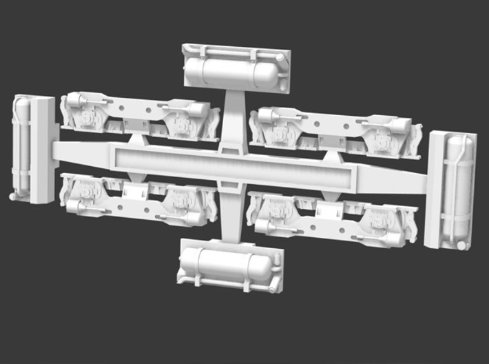 SW1200 Flexicoil Trucks & Fuel Tanks 3d printed