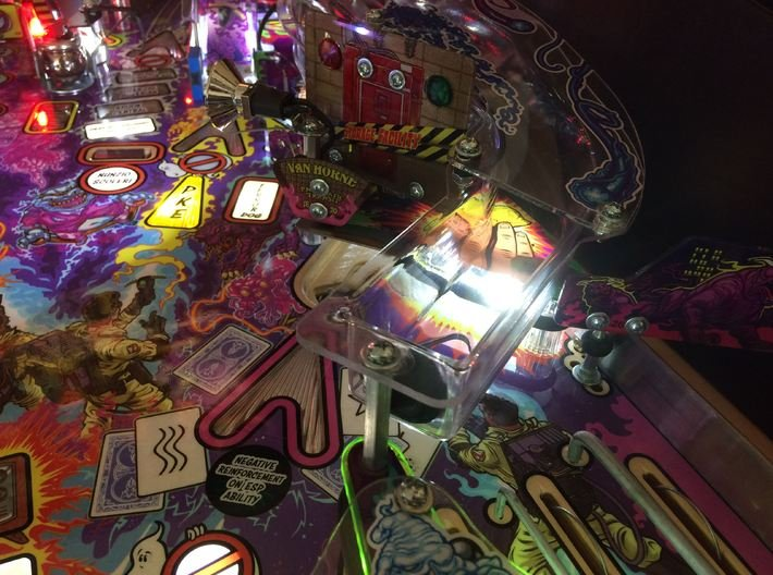 Ghostbusters Pro Pinball Ramp Support Bracket 3d printed
