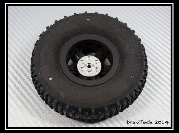 """1.9"""" Wheel for RC4WD Hub 3d printed"""