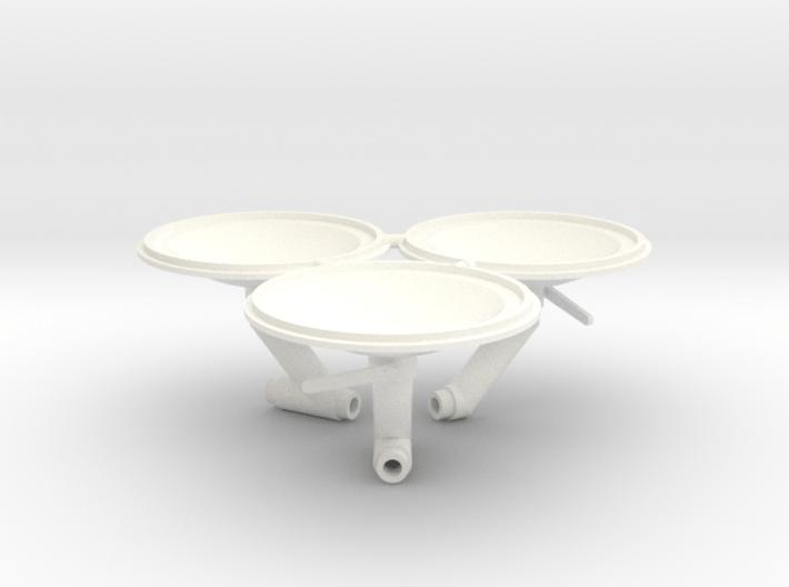 Funnel caps for Retro Euro Bulk Tanker 3d printed
