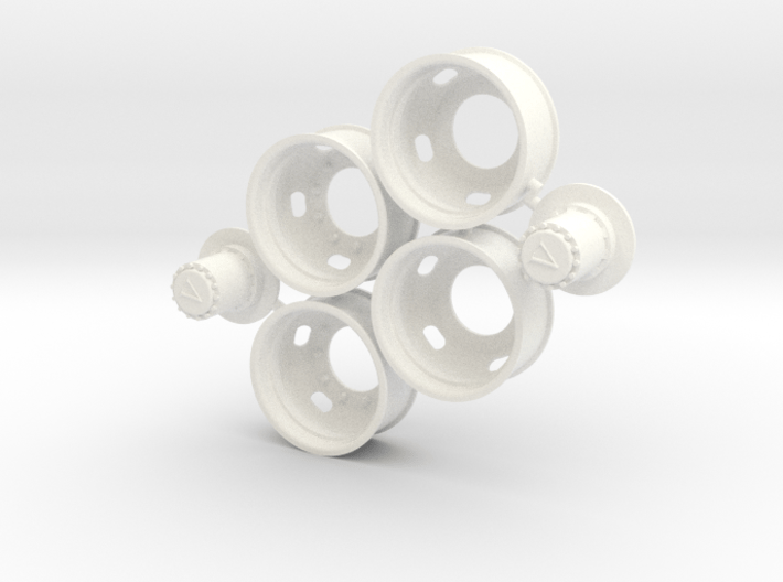 5-Hole Rear Rims with Volvo Hub 3d printed