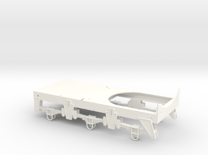 Chassis for Retro Euro Bulk Tanker 3d printed