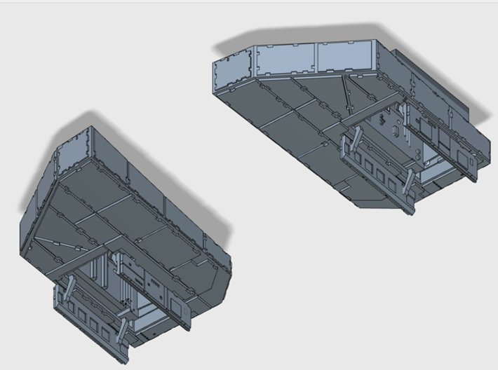 YT1300 FRONT LANDING BAYS MPC 3d printed