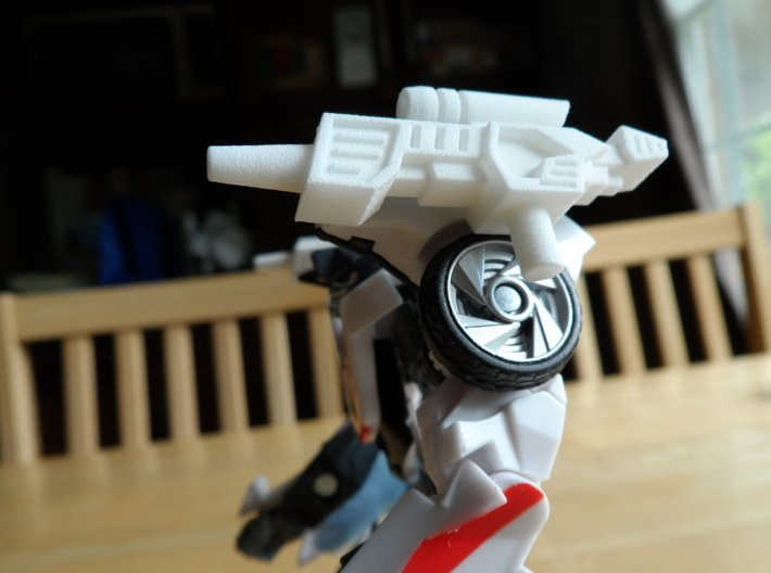 Sunlink - Stylish Head Guns - v2 w/ Side Pegs 3d printed