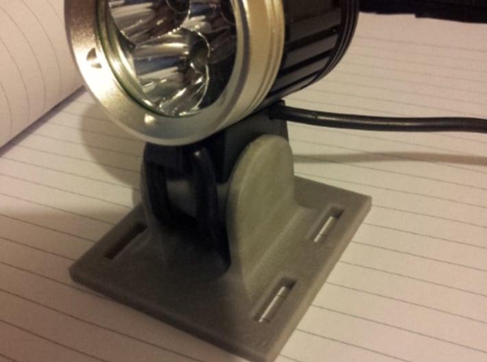 LED Bicycle Headlight Helmet Mount 3d printed