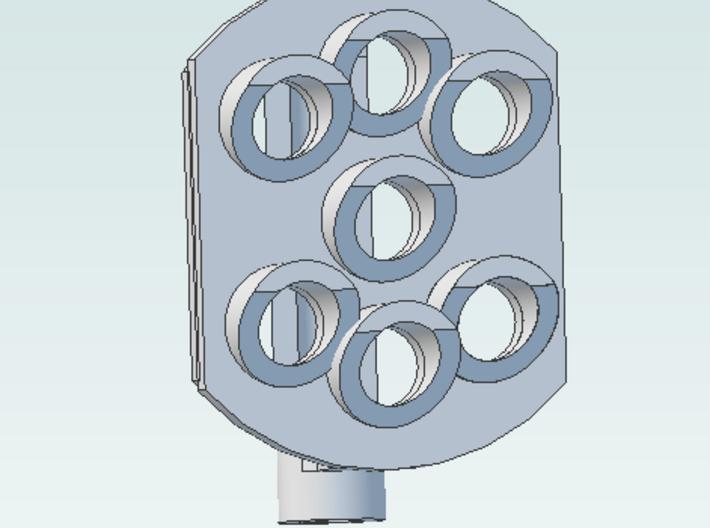 Position Light 7 Bulbs pair Pennsy RR 3d printed 7 light one head