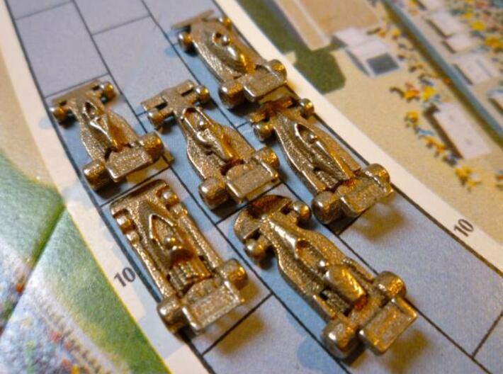 Formula 1 Miniatures - 1976 3d printed All six cars head away