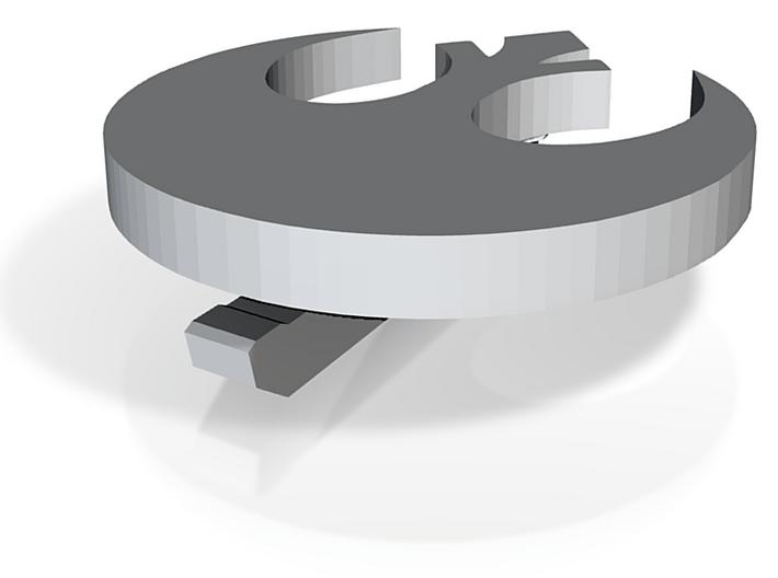 Rebel Hat Pin 3d printed
