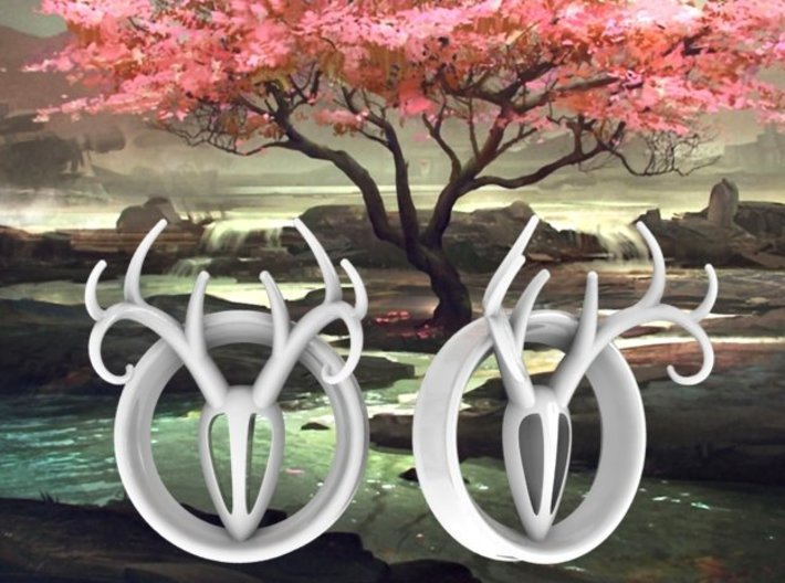 1 & 7/8 inch Antler Tunnels 3d printed Available in multiple sizes.