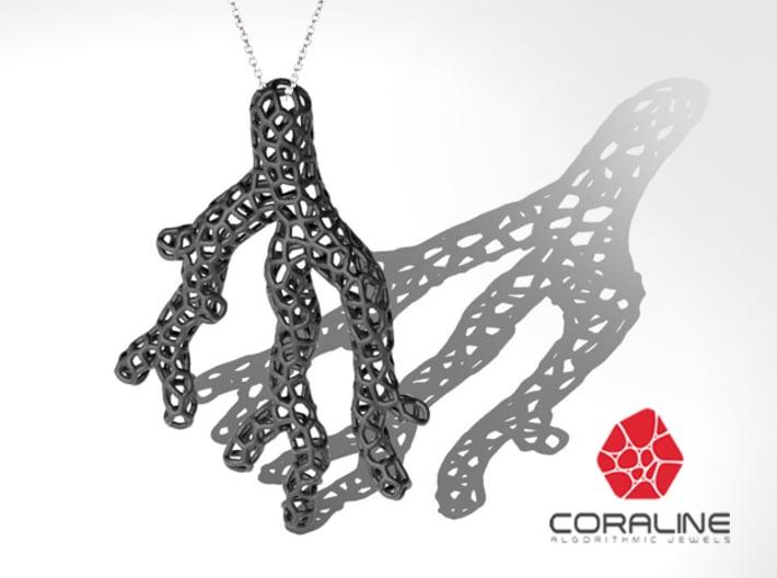 Red Coral Pendant 3d printed