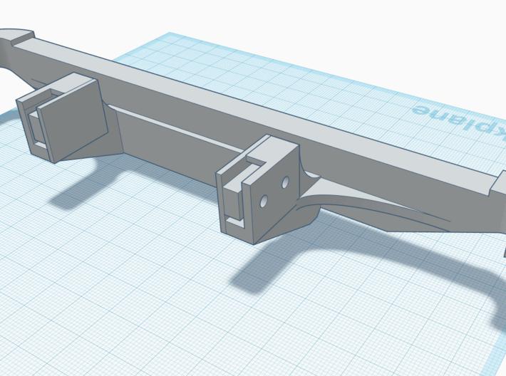 3Racing EX Real Bumper 3d printed